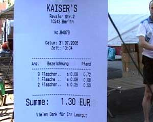 Kassiererin streikt - Kaiser's k�ndigt