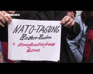 Demonstration gegen Nato-Gipfel in Baden-Baden