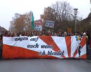 Pupils' protest march in Lüchow