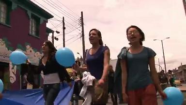 Protest gegen den Staudamm Quimbo