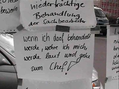 Aktionstag vor Berliner Jobcenter