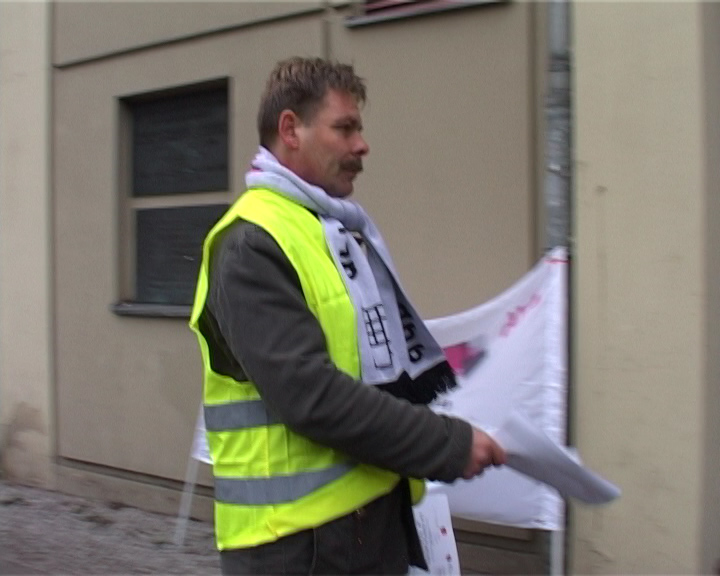 Mahnwache der Streikenden von CFM