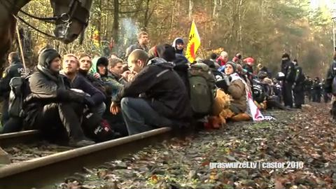 Widersetzen rail blockade