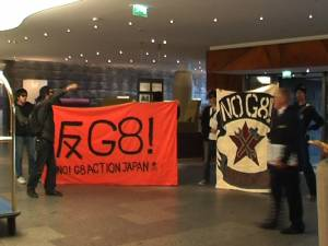 Action by NO!G8-network Japan