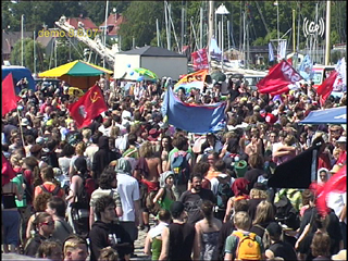 rostock harbour: closing demonstration and -speeches (8.6.)
