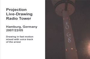 Hamburg: Arrested for a projection