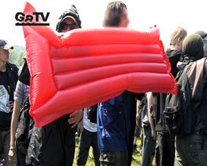 2nd blockade in Hinter Bollhagen