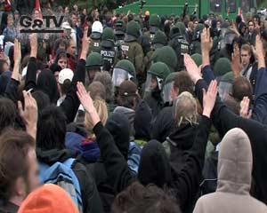 Grossdemo - Kämpfe mit der Polizei