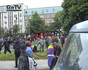 2.6.2007 - undercover policemen provoce riots