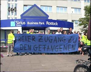 Illegal situation at the G8-prison in Rostock