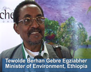 The environment minister of Ethiopia
