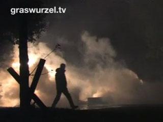 Brennende Barrikaden Metzingen