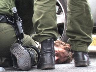 Greenpeace-Blockade bei dem Verlade-Kran