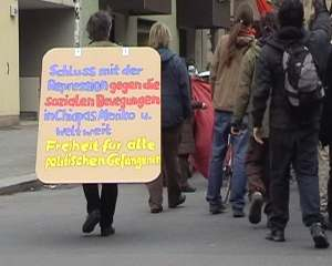 YA BASTA!-Redebeitrag auf der Freiräumedemo in Berlin