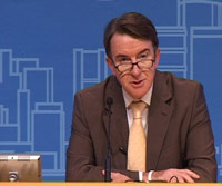 random video: Mandelson unzufrieden