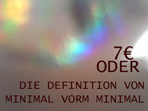 random video: 7 Euro oder Die Definition von Minimal vorm Minimal